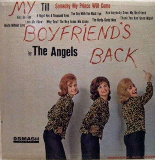 The Angels' album cover, 1963