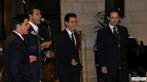 Deven May, Buck Hujabre, Graham Fenton & Jeff Leibow Performing at the NF VIP Event